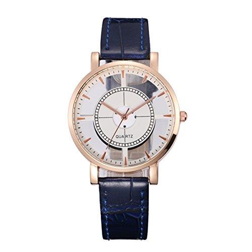 XY Fancy Damen Herren einfache analog Quarz Transparente Glas seitige Armbanduhr