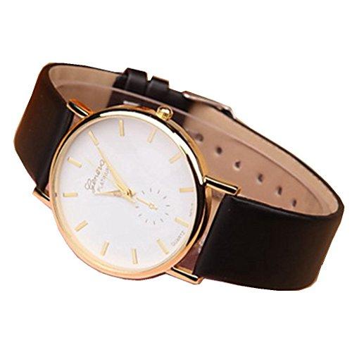 YPS Lady Fashion Genf einfache Dial PU Band Armbanduhr WTH3119
