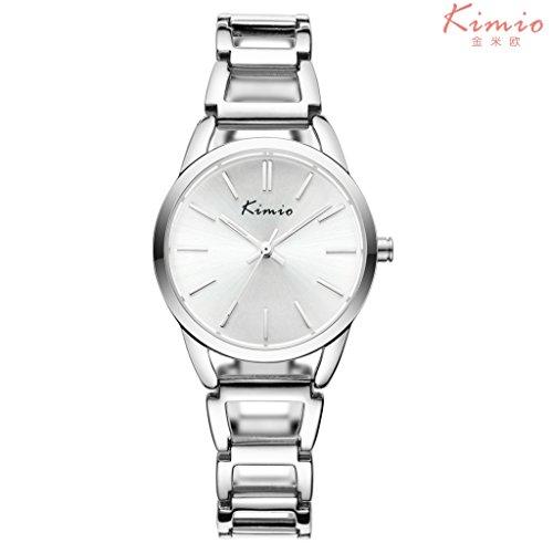 YPS Frauen Luxury Business Analog beilaeufige Quarz Armbanduhr Weiss WTH3256