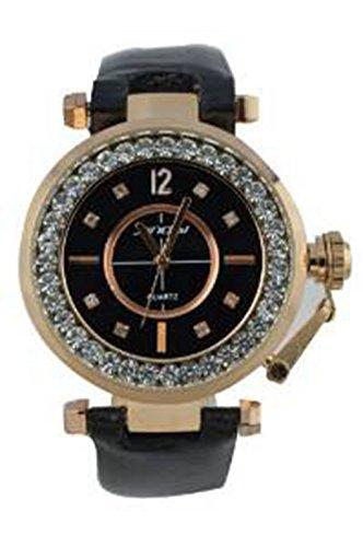 YPS Damenluxus Analog PU Leder Armbanduhr Quarz WTH0265