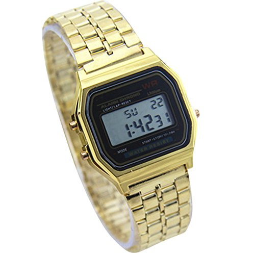 YPS Digitale Military Men Sport Fashion elektronischen LED Armbanduhr Gold WTH8048