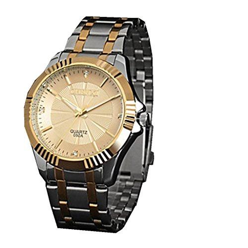 YPS Herren Elegant Design Kleid japanische Quarz Stahlband Armbanduhr WTH2903