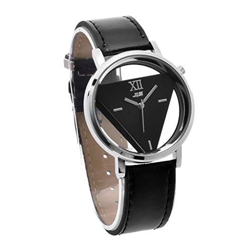 YPS Fashion Damen Quarz Edelstahl Leder Band Analog Sport Armbanduhr WTH8307