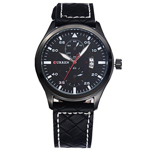 YPS Men Fashion Sports Quartz Analog Lederband Armbanduhren WTH4635