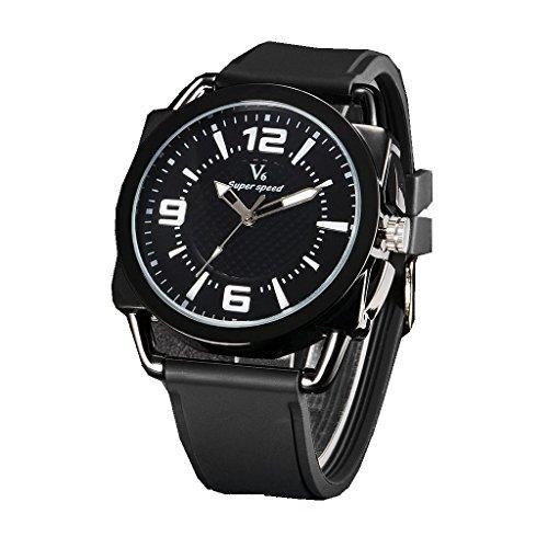 YPS Mens Fashion Sports Personalized Military Silicone Strap Quartz Wrist Watch WTH3172