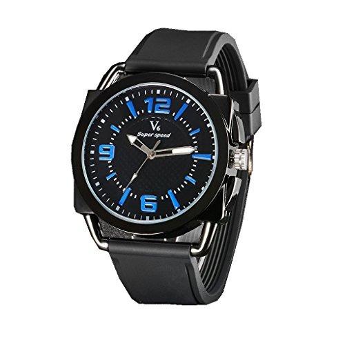 YPS Mens Fashion Sports Personalized Military Silicone Strap Quartz Wrist Watch WTH3174