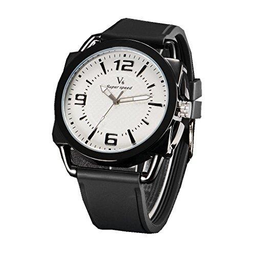 YPS Mens Fashion Sports Personalized Military Silicone Strap Quartz Wrist Watch WTH3171