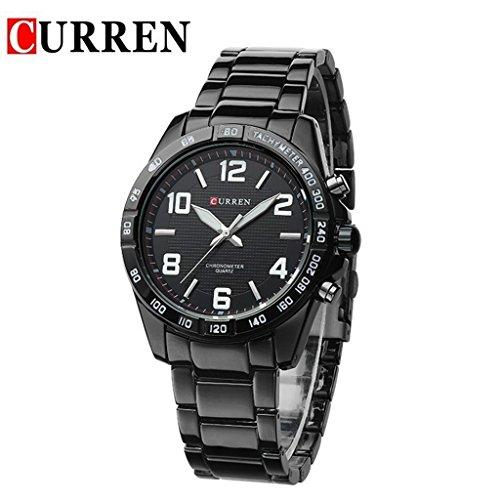YPS Herren Style Fashion Schwarz Wolframstahl Quarz analoge Sport Kleid Armbanduhren WTH2891