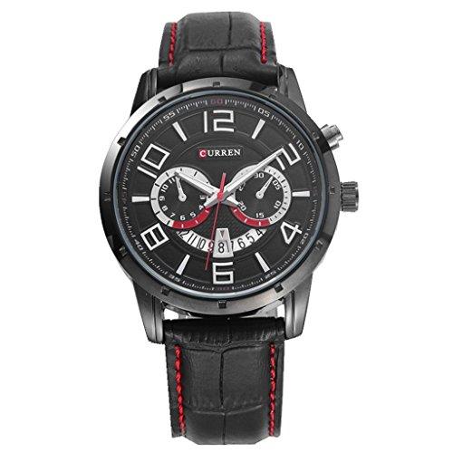 YPS Men Fashion Sports Quarz Analog Leder Stra Armbanduhren WTH4626