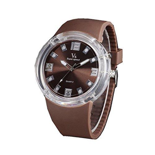 YPS Mens Fashion Sports Silicone Band Quartz Wrist Watch WTH3160