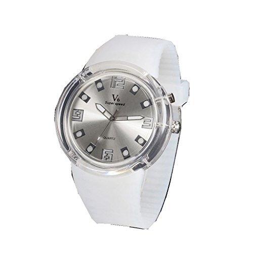YPS Mens Fashion Sports Silicone Band Quartz Wrist Watch WTH3161