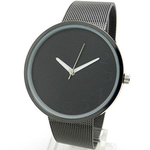 YPS Frauen M nner Fashional Eisenmetallnetz Netzband Quarzuhr Uhr Schwarz WTH0711