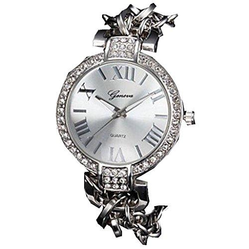 YPS Frauen Diamant Dekor Alu Band Silber WTH2833
