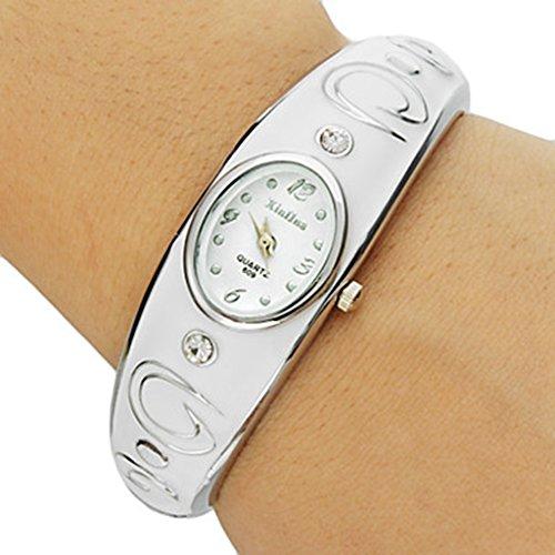 YPS Frauen Oval Dial Legierung Band Armband Uhr WTH8273