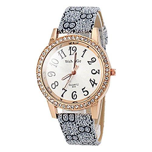 YPS Frauen Quarz Weinlese PU Band Diamante Fall Armbanduhr WTH8277