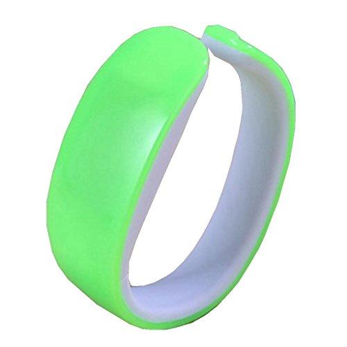 YPS Unisex Frische Farben LED Armband Kunststoff Wirst Uhr Gruen WTH3275