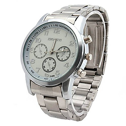 YPS Herren Legierung Analog Quarz Business Watch weiss WTH0834