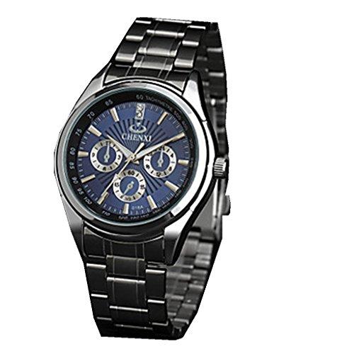 YPS Herrendesignkleider japanische Quarz Silber Stahl Buegel Armbanduhr WTH2905