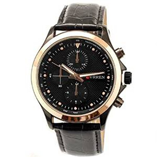 YPS Herrenmode Stil Military Lederband Quarz Uhren WTH0296