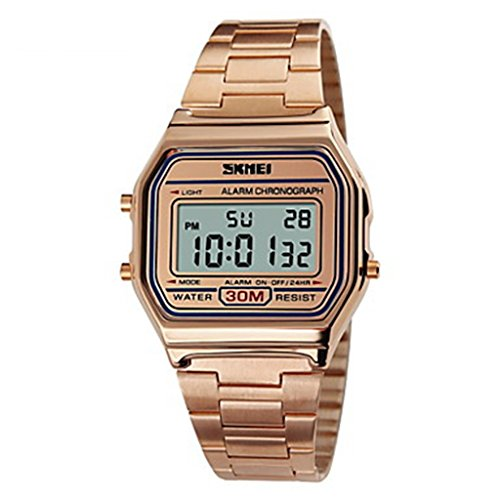 YPS Maenner klassische Fashion Square Digitale Stahl Sport Armbanduhr Chronograph Alarm Kalender WTH3270