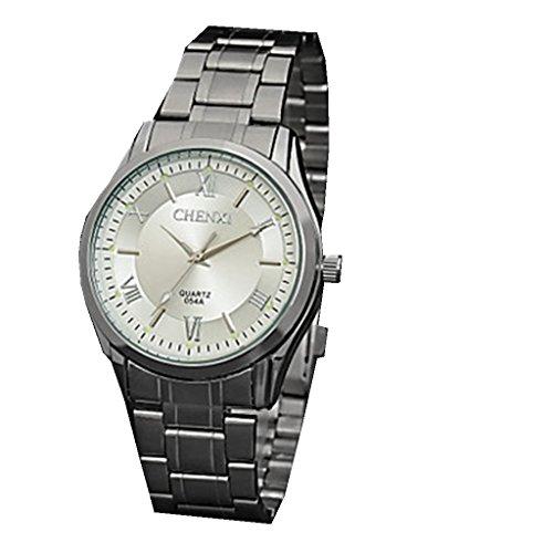 YPS Maenner klassische Entwurfs Kleid japanische Quarz Silber Stahl Buegel Armbanduhr WTH2900