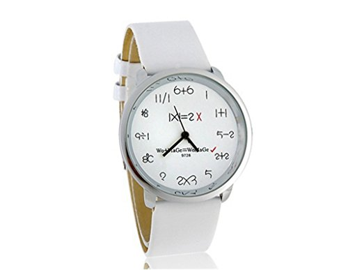 YPS Mode Frauen Maenner Lederquarz Ziffernblatt Armbanduhr WTH4663