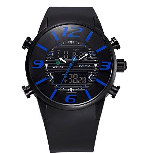 YPS Mens Luxusmilitaer Dive Analog Digital Japan Quarz Bewegung Sports Armbanduhr Blau WTH2884