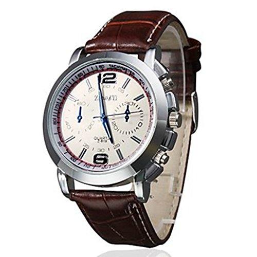 YPS Maenner Business Stil pu Lederband Quarz Armbanduhr WTH2994