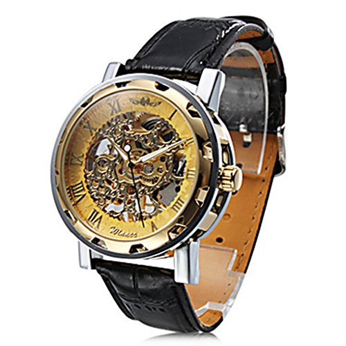 YPS Maenner mechanische Hohl Gravieren Armbanduhr WTH2990