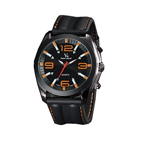YPS Mens Boy Military Large Numbers Style Silicone Strap Sport Quartz Analog Wrist Watch WTH3146