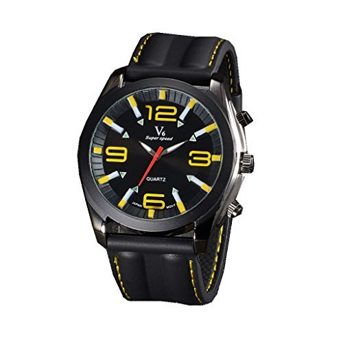YPS Mens Boy Military Large Numbers Style Silicone Strap Sport Quartz Analog Wrist Watch WTH3149