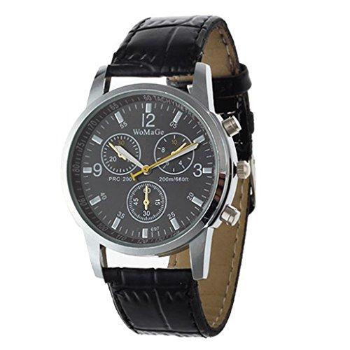 YPS Mode Business Marke Hochwertige Herren Lederband Quarz Armbanduhr WTH4657
