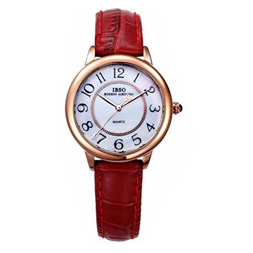 YPS Modische Lederband Kleine Dial Digital Quarz Paar Armbanduhr Frauen WTH4736