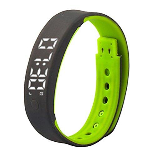 YPS Unisex Multi Funktionen Eignung Band Pedometer Kalorie Schlaf Monitor Spors Armbanduhr Gruen WTH3329