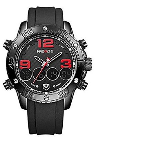YPS Herren Multifunktions Analog Digital Design Sport Armbanduhr Rot WTH3396