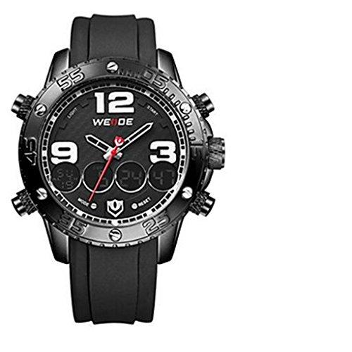 YPS Herren Multifunktions Analog Digital Design Sport Armbanduhr Schwarz WTH3395