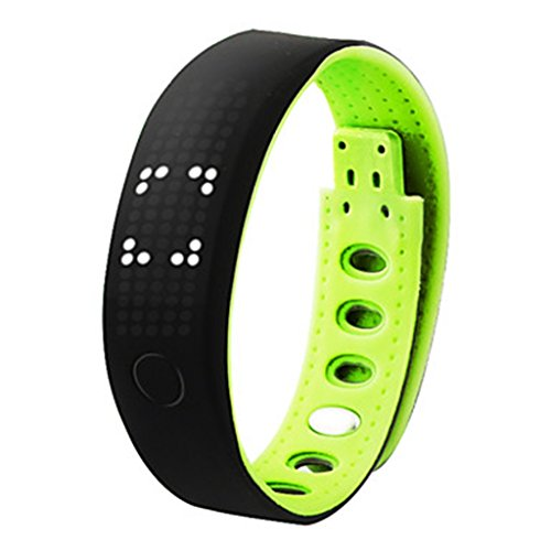 YPS Unisex Bluetooth Smart Armband Multi Funktionen Eignung Band Pedometer Kalorie Schlaf Messer Armbanduhr Gr n WTH3337