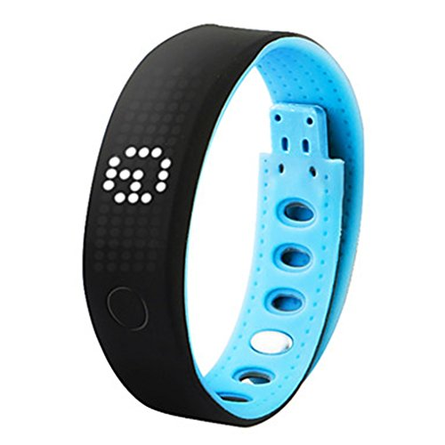 YPS Unisex Bluetooth Smart Armband Multi Funktionen Eignung Band Pedometer Kalorie Schlaf Monitor Armbanduhr Blau WTH3335