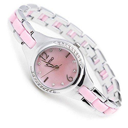 YPS Ladies New Kimio Uhr bunte Kristalldiamantshipping K449L Rosa WTH4022