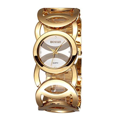 YPS Frauen Marken Luxuxkristallart und weisearmband Quarz Uhr WTH5010