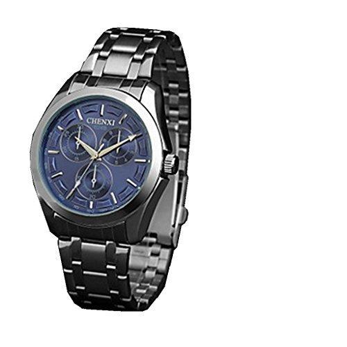YPS Herren Dress Casual Design Silber Stahl Armband Armbanduhr WTH3066