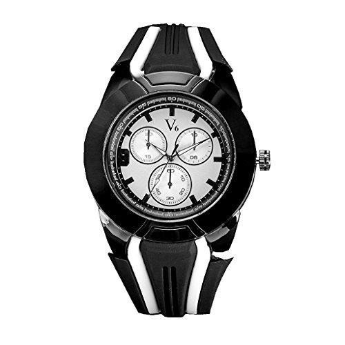 YPS Herrenmode vorgespanntes Glas Freizeit Quarz Wrist Watch WTH3240