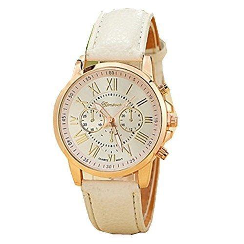 YPS Lady Fashion Genf laessig Gold Case PU Armband Armbanduhr WTH3130