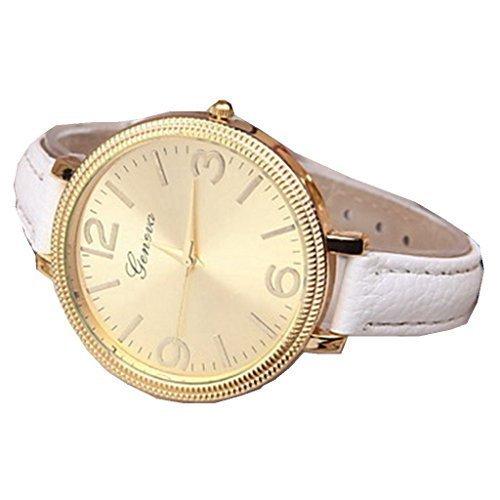 YPS Lady Fashion Gold Genf Slim PU Band Armbanduhr WTH3113