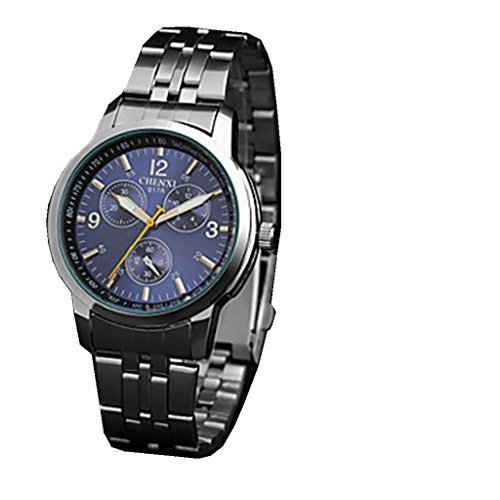 YPS Maenner Kleid Classic Design Silber Armband Armbanduhr WTH3063