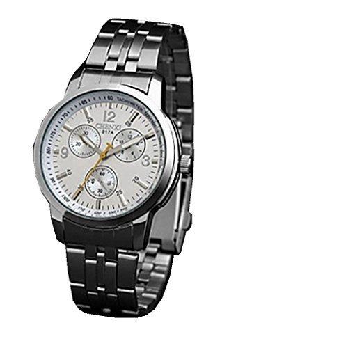 YPS Maenner Kleid Classic Design Silber Armband Armbanduhr WTH3064