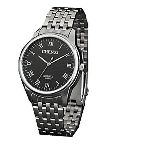 YPS Maenner Kleid Classic Design Silber Stahl Armband Armbanduhr WTH3049
