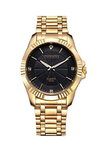 YPS Maenner Mode laessig Luxus Golden voll Stahl Quarz Wrist Watch WTH3246