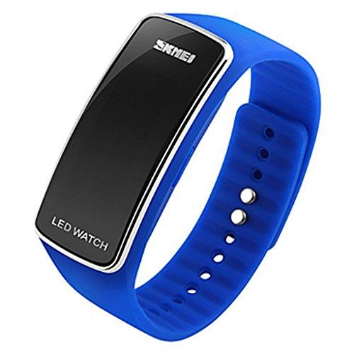 YPS Unisex neue Mode LED Digital Silikon Armband Sport Armbanduhr WTH3019