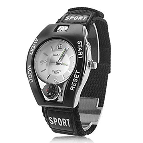 YPS Unisexsport Art Gewebe Band Quarz analoge Armbanduhr weiss WTH8102